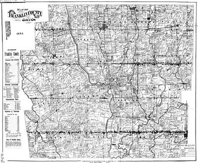 Columbus, Franklin County Ohio Maps