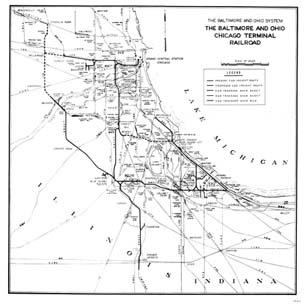 Chicago Railroad Map Chicago Railroad Maps