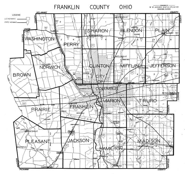 Franklin County Ohio Map Hixson 1930's Franklin County Plat Maps