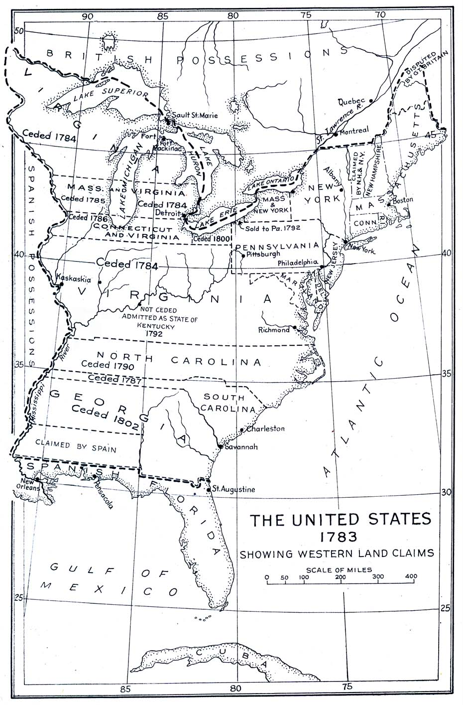 Image Result For Map Of Us In 1783