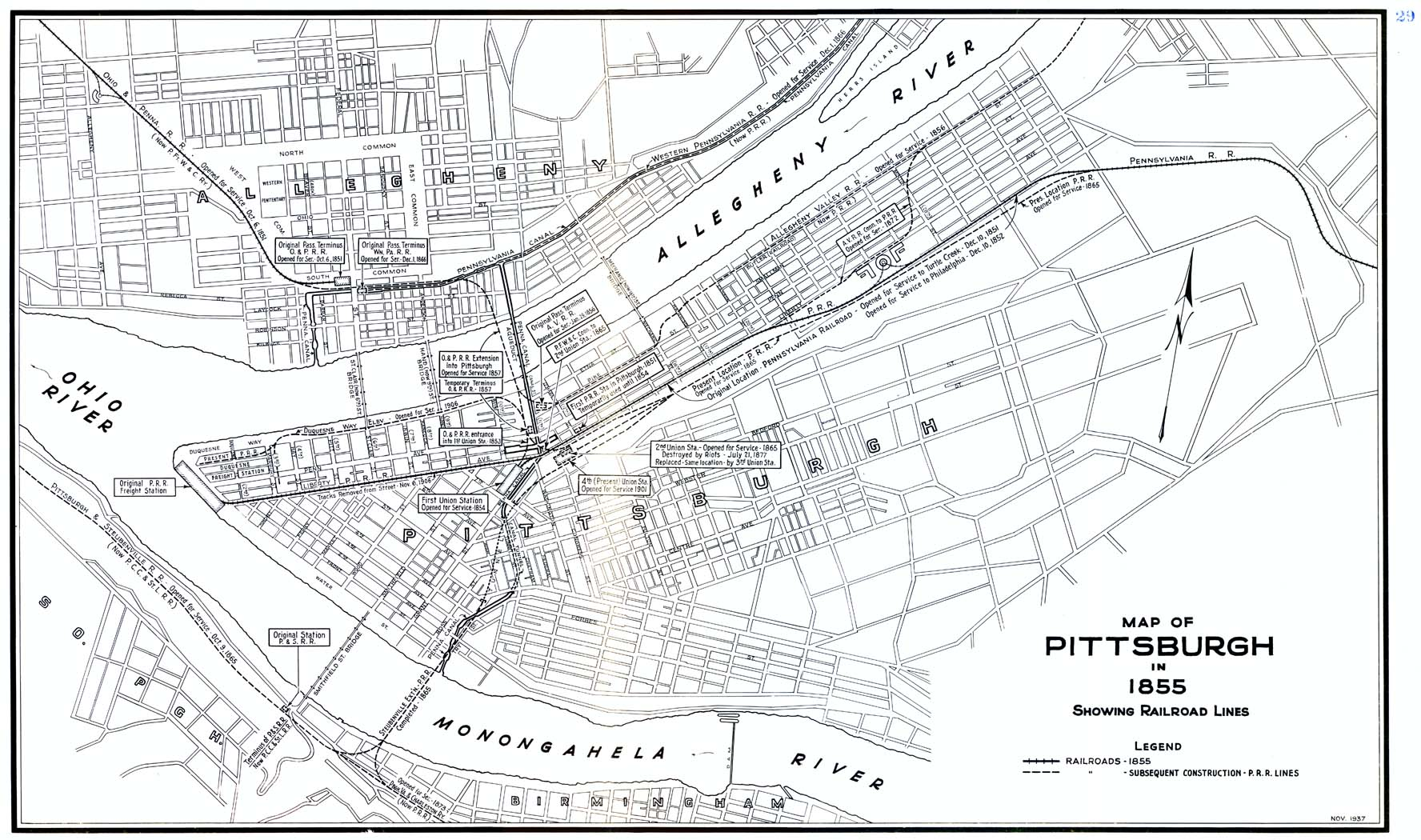 Pittsburg Area PRR Maps on