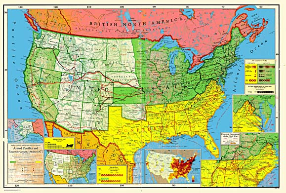 EarleMcKee American History Series - Map of us railways